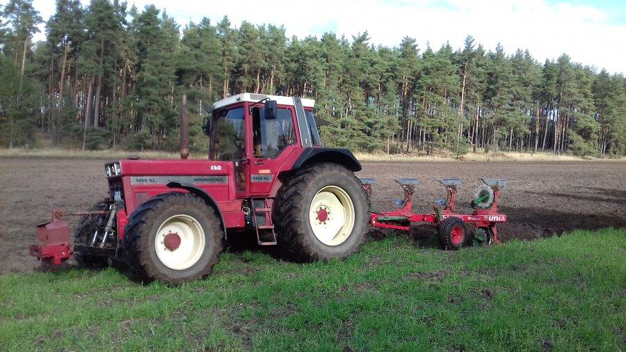 Traktor beim Flügen