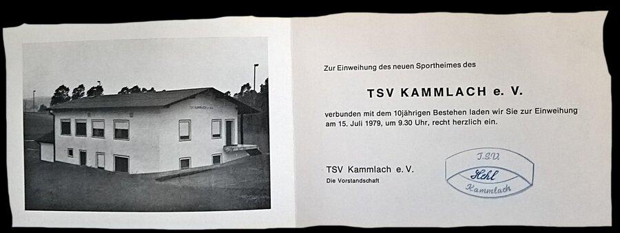 Das Sportheim im Jahre 1979