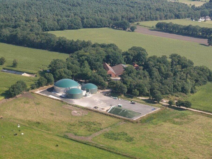 Luftbild vom Hof