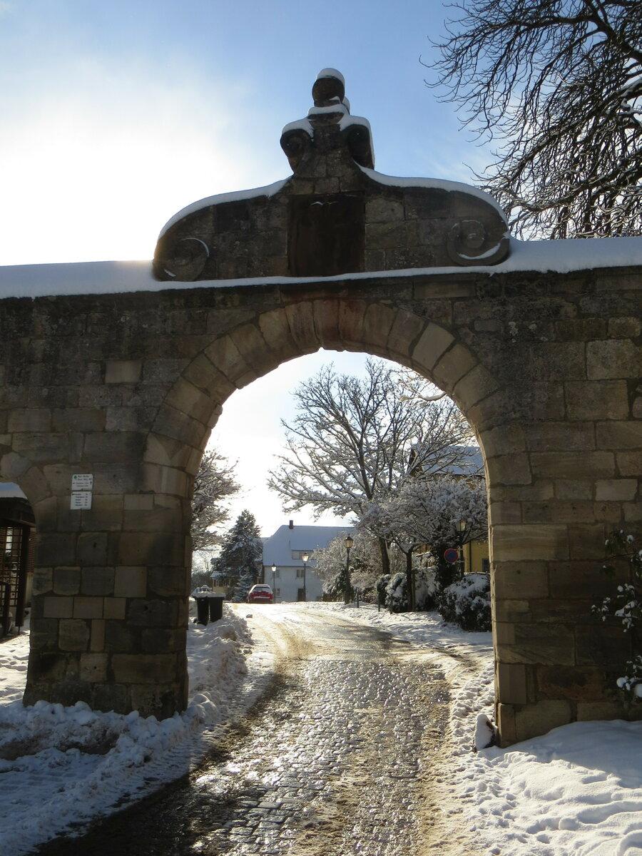 Klosterzufahrt im Winter