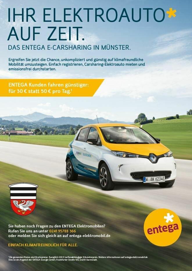 Plakat entega e-Carsharing