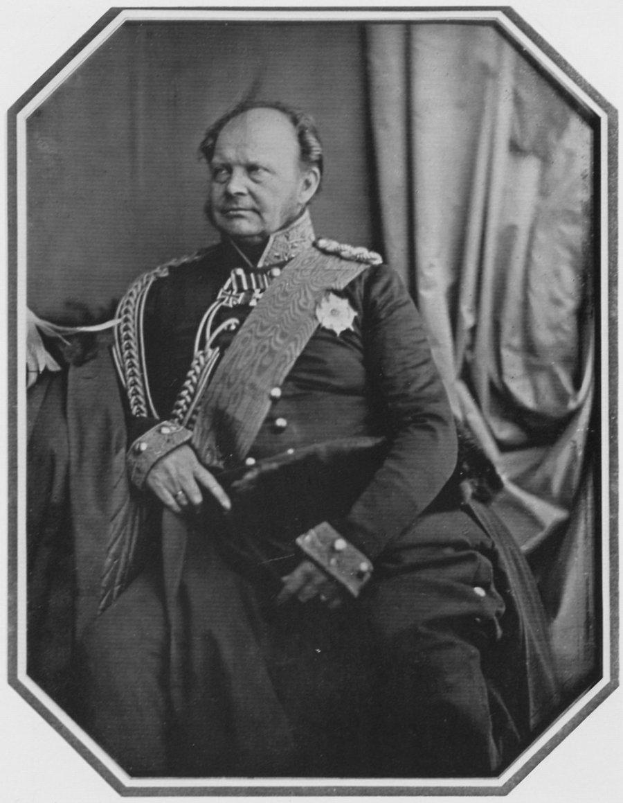 Friedrich Wilhelm IV. von Preußen, Porträtaufnahme von Hermann Biow, Daguerreotypie von 1847