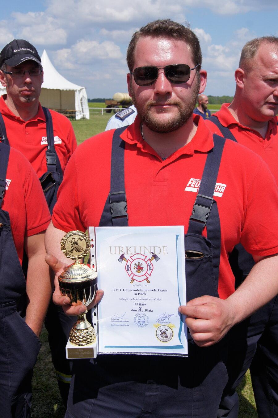 3.Platz Männer FF Baek