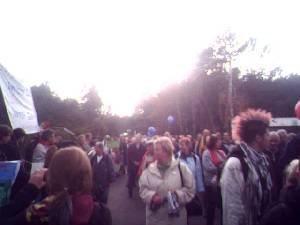 entlang der Menschenkette