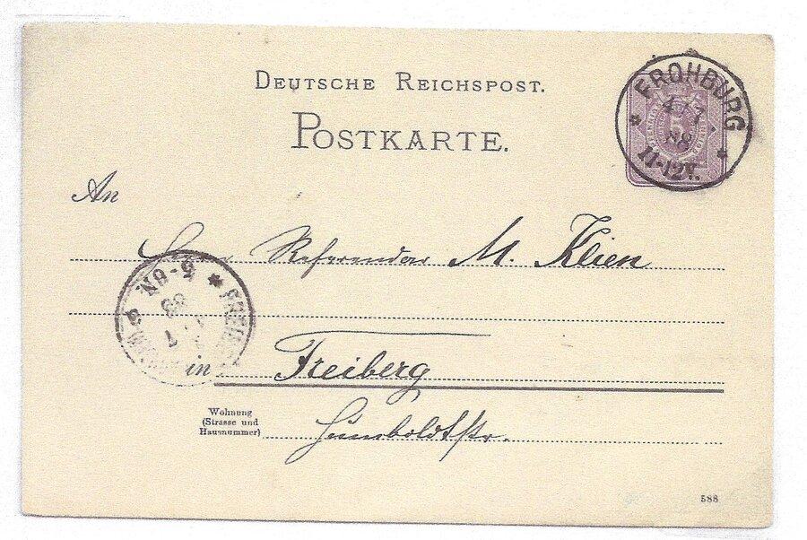 Postkarte 5 Pf.