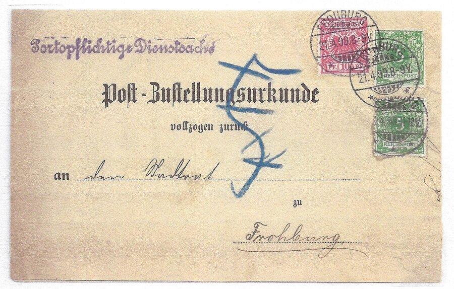 Postzustellungsurkunde