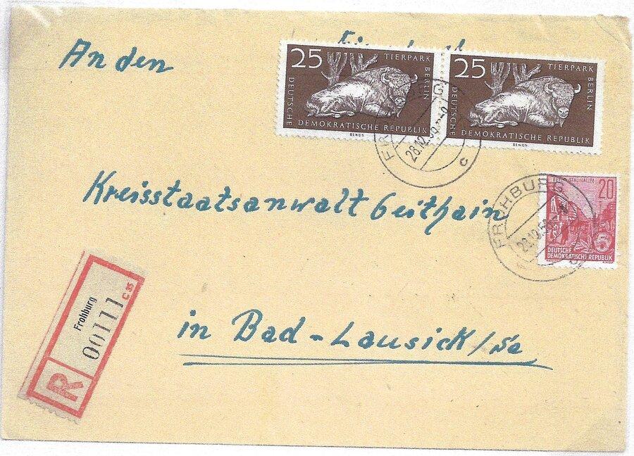 R-Brief mit altem R-Zettel