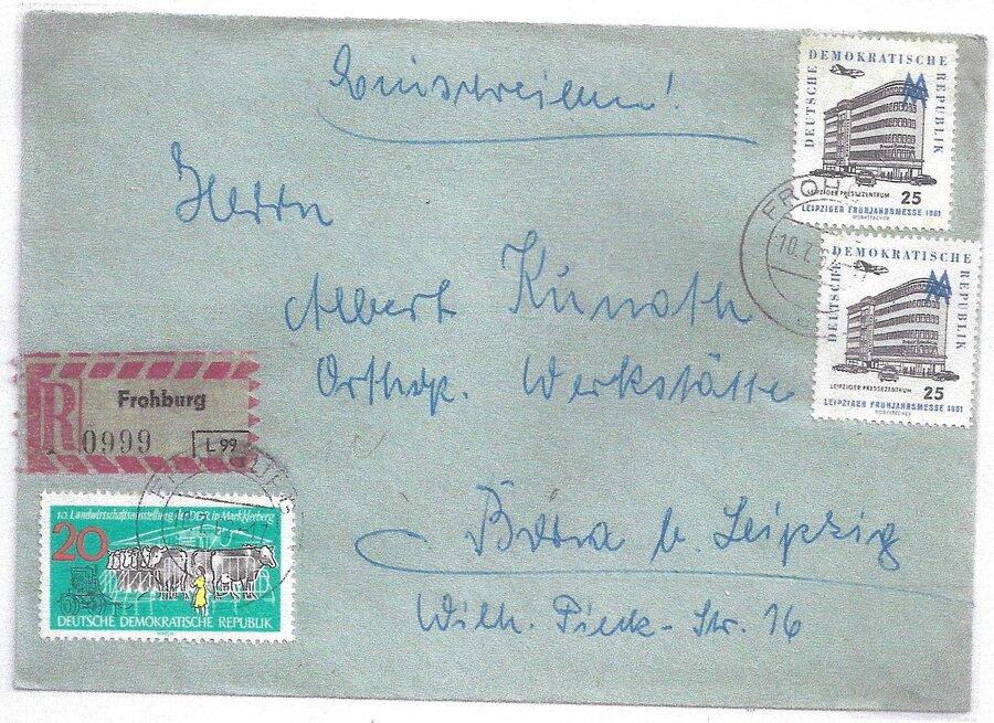 R-Brief, R-Zettel mit Amtsnummer
