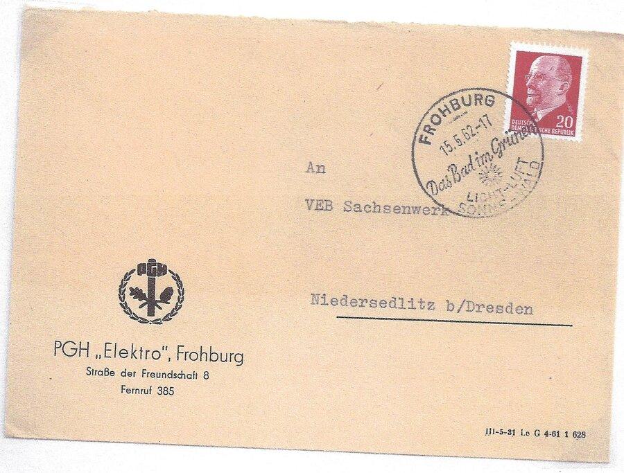 Werbestempel Freibad 1962