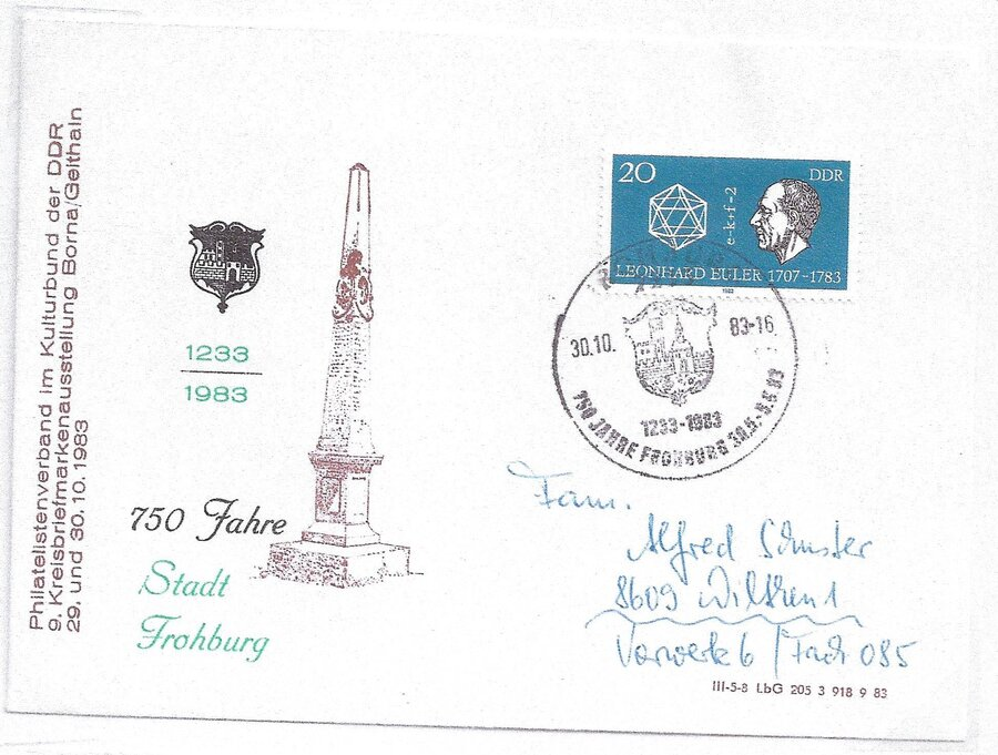 750 Jahre Frohburg, Postmeilensäule