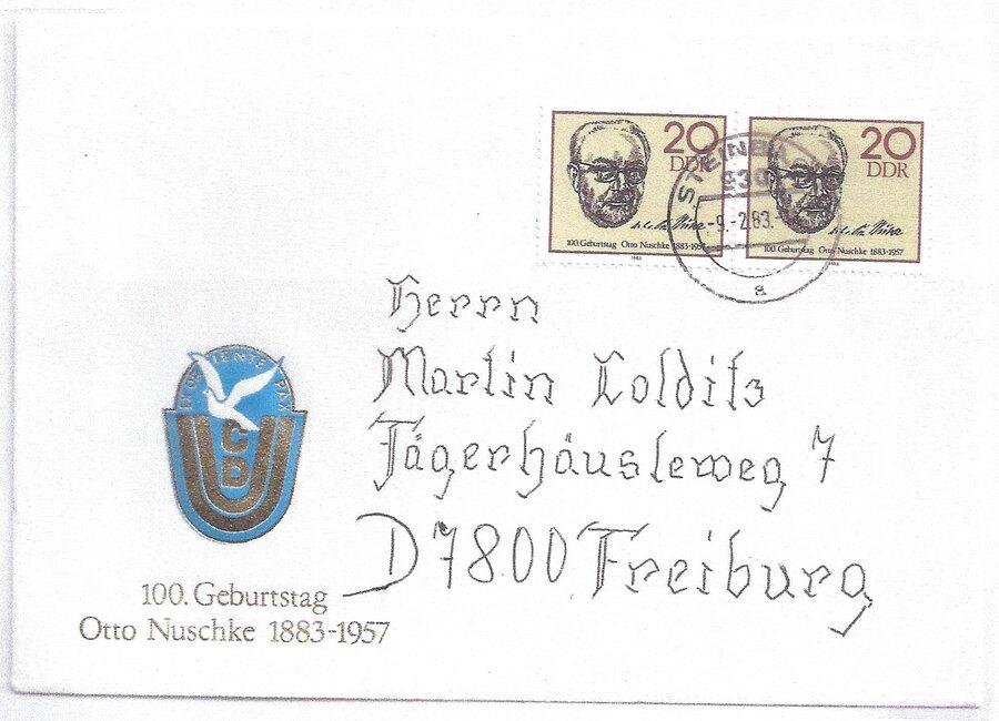 100. Geburtstag Otto Nuschke