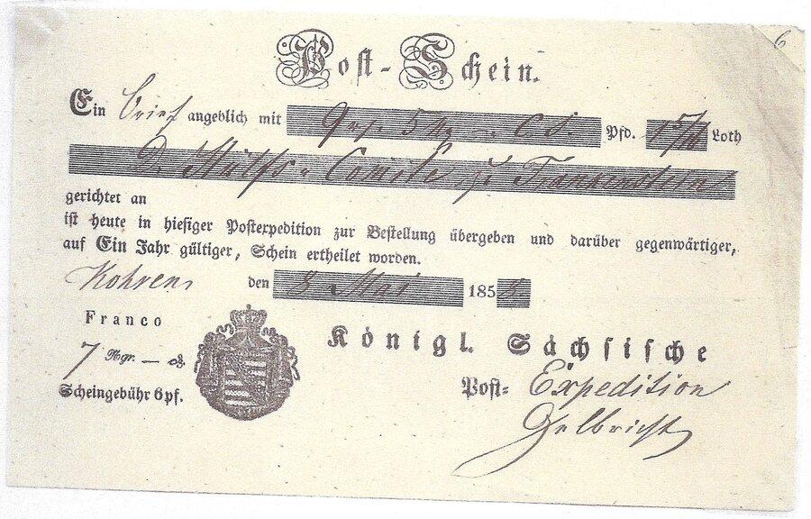 Postschein