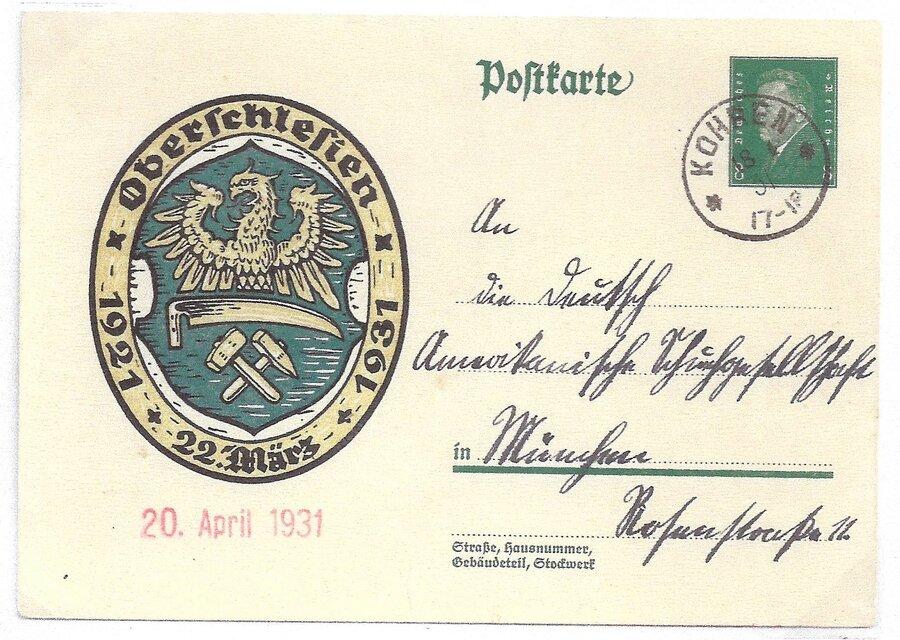 """DR Postkarte mit Einkreisstempel """"* Kohren *"""""""