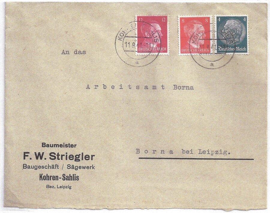 Fernbrief aus Kohren-Sahlis