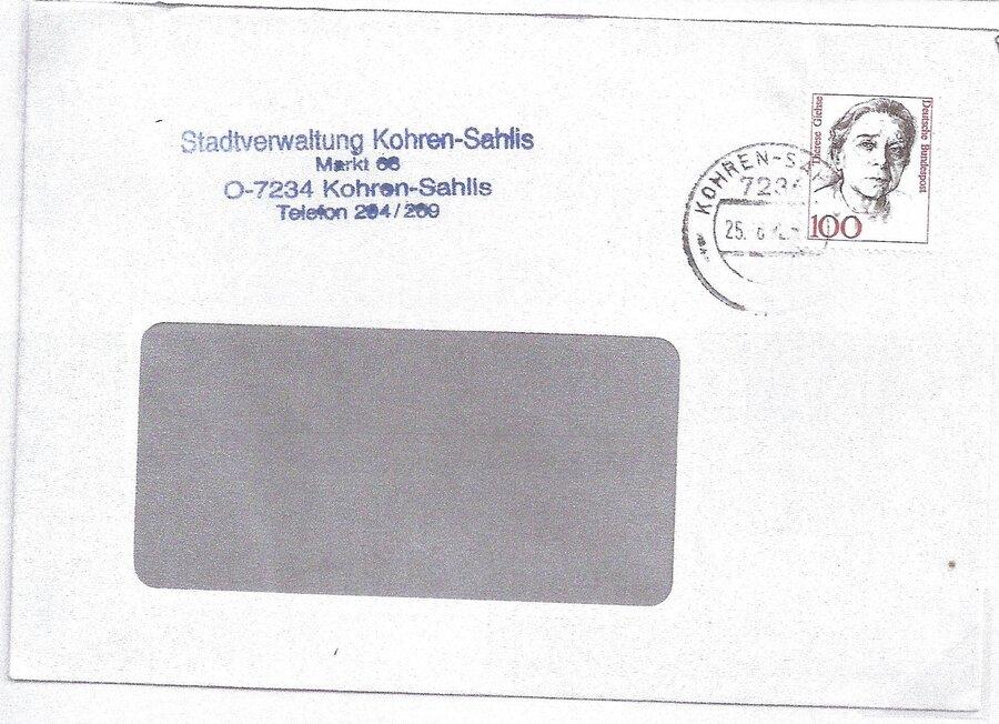 VGO-Brief mit Bund-Marke