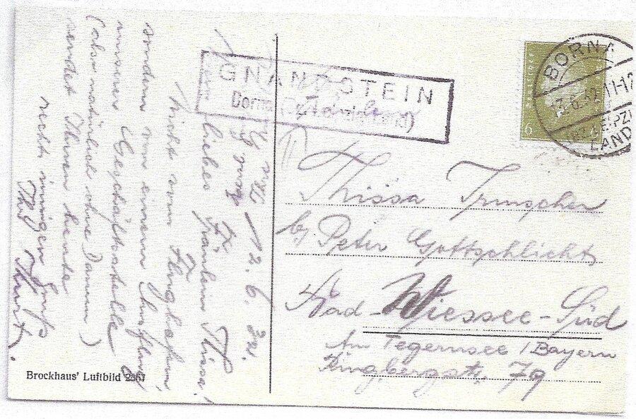 Poststellenstempel Gnandstein 1932