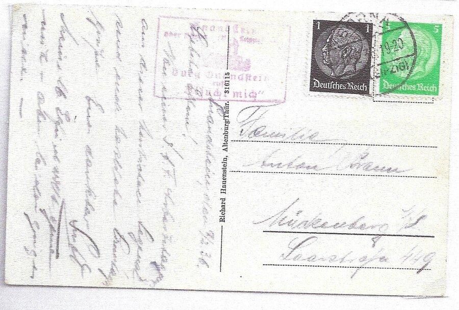 Poststellenstempel Gnandstein 1936