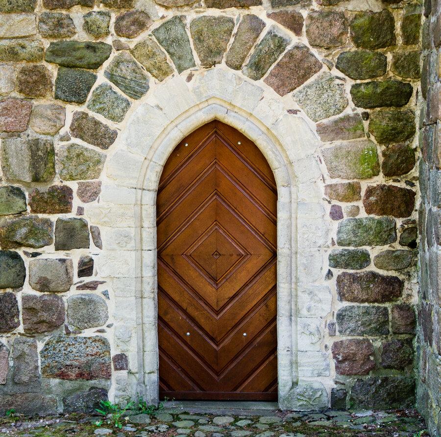 Portal mit Inschrift