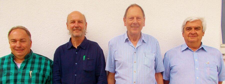 Tölzer Mannschaft: Ralf Mayer, Rainer Holl, Albert Vosseler, Karl Heinz Wallé
