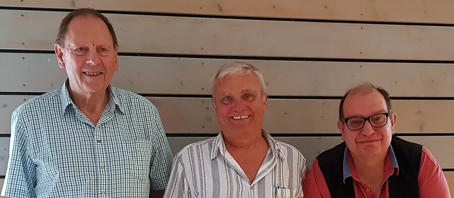 Das Siegertreppchen der Bay. VStM: Albert Vosseler (2.), Horst Walter (1.) und Rainer Warkentin (3.)