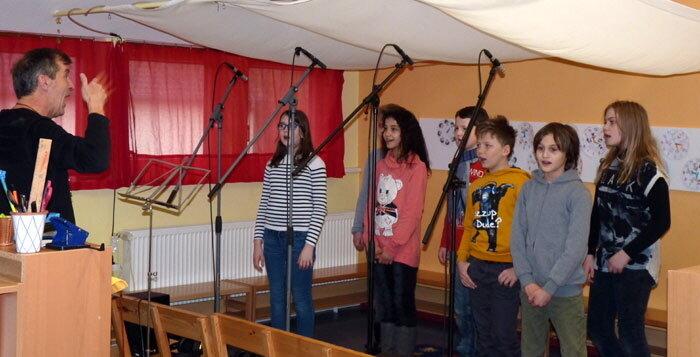 Schüler singen