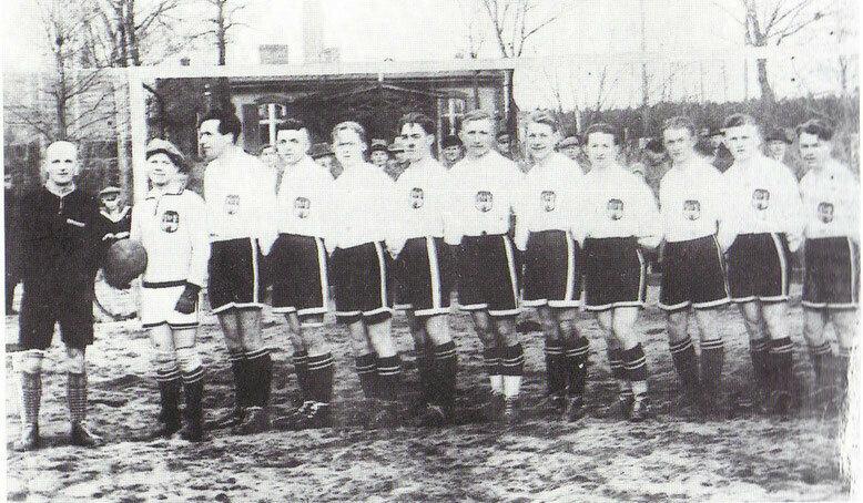 Das war die Mannschaft, die 1931 den Aufstieg in die damals höchste Spielklasse, der Gauliga schaffte.