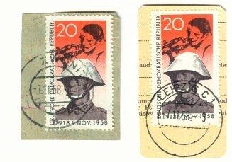 Briefausschnitte mit DDR 662