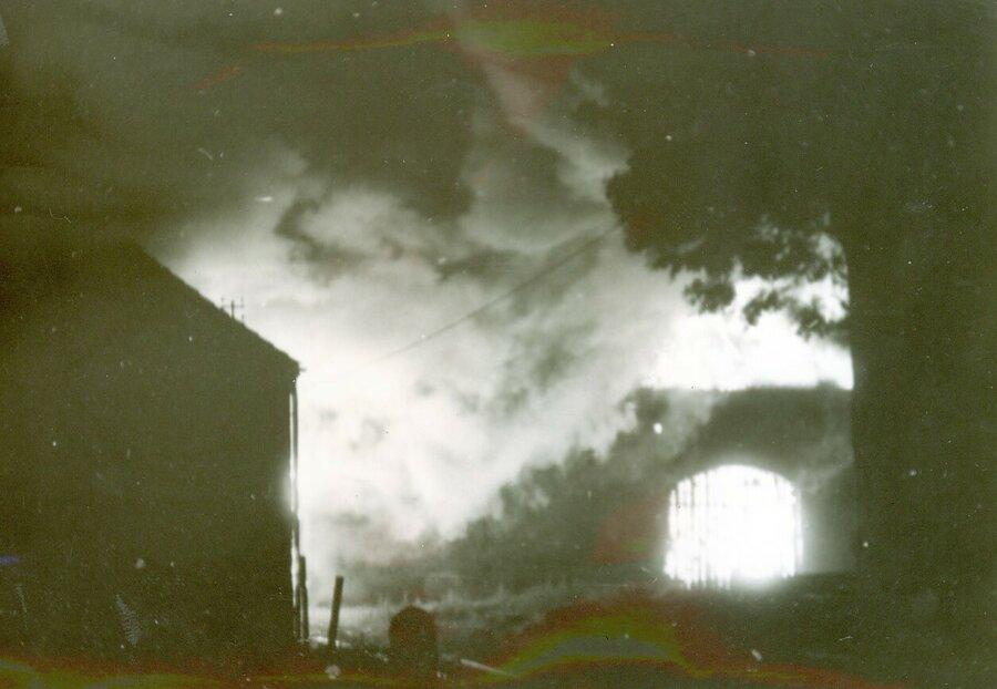Brand der Scheune auf dem Marlenenhof 29.08.1987, © Otto Lehnhardt