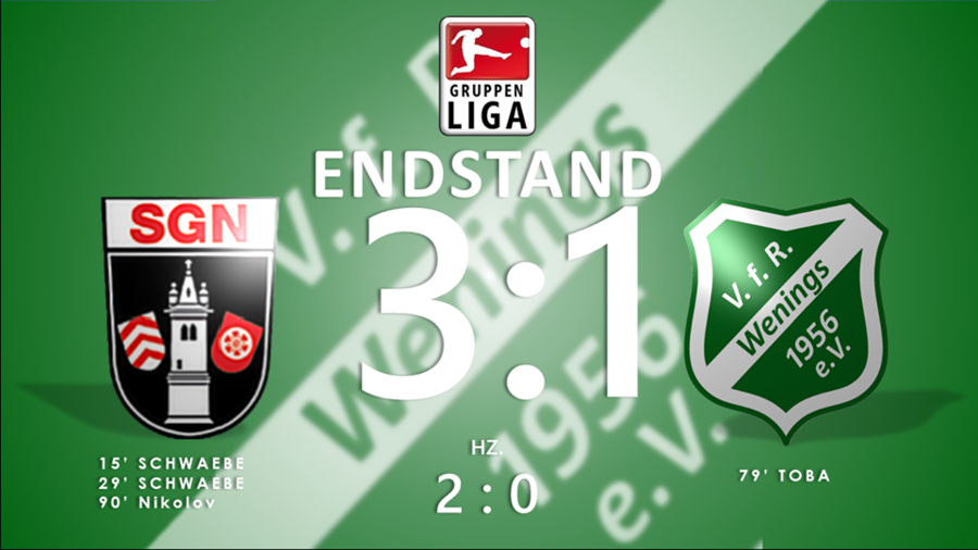 2. Spieltag - Endstand