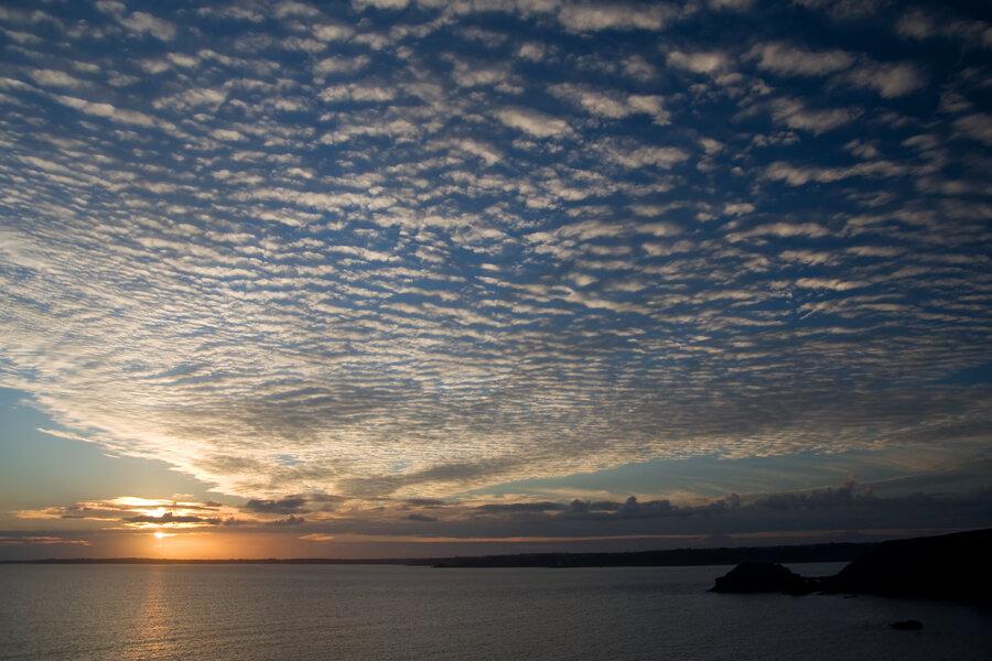 Sonnenuntergang an der Bretagne