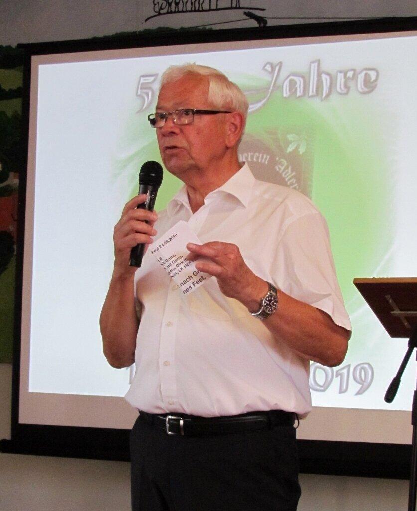 Unser Moderator Horst Weichgrebe führte am Samstag durch das Programm