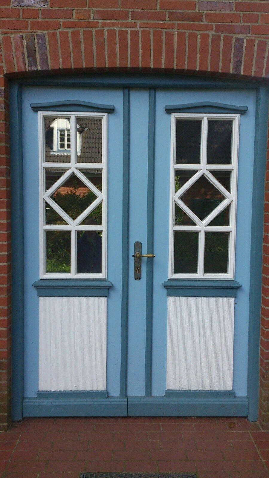 Blau-Weiße Tür