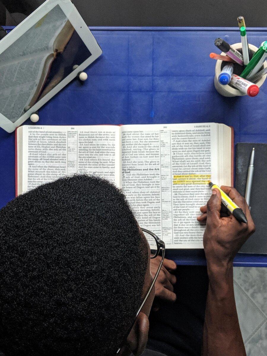 """""""Nimm und lies"""" - Die Bibel ist für Augustinus zentral."""