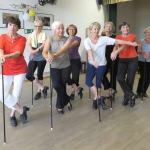 Aktive Senioren Leipzig - Stepptänzer proben in der Studiobühne