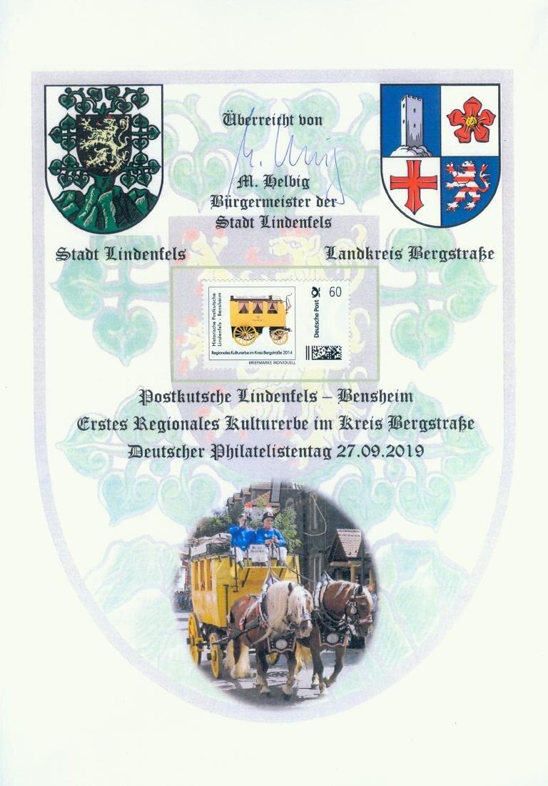 Gedenkblatt Lindenfels