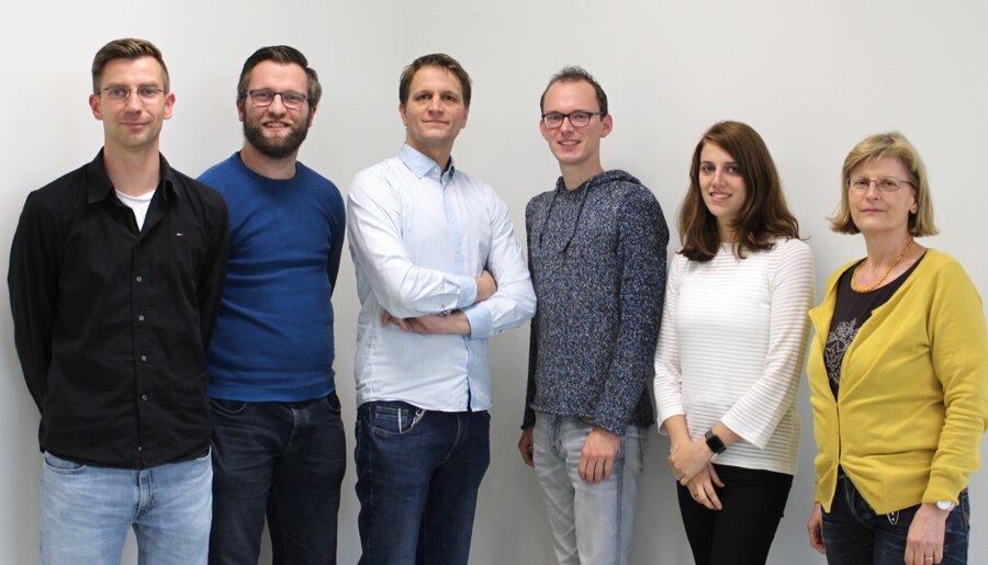 Die Tutorinnen und Tutoren des 11. Jahrgangs 2019 (v.l.): Herr Dr. Steffen, Herr Thedinga, Herr Ohlhoff, Herr Witte, Frau Nimmler, Frau Theobald