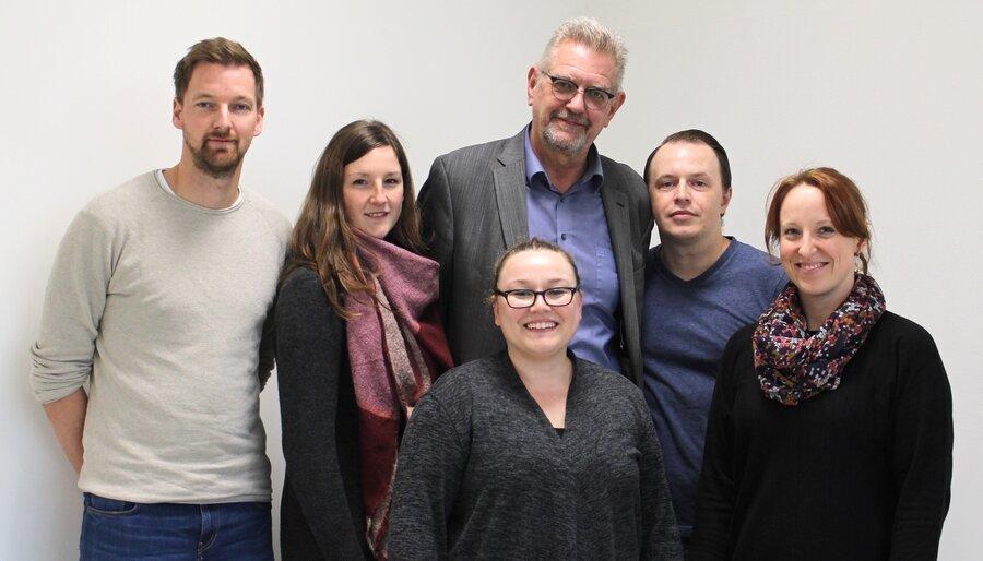 Die Tutorinnen und Tutoren des 13. Jahrgangs 2019 (v.l.): Herr Jetses, Frau Wesenberg, Frau Herrschlein, Herr Hayunga, Herr Kehl, Frau Volz