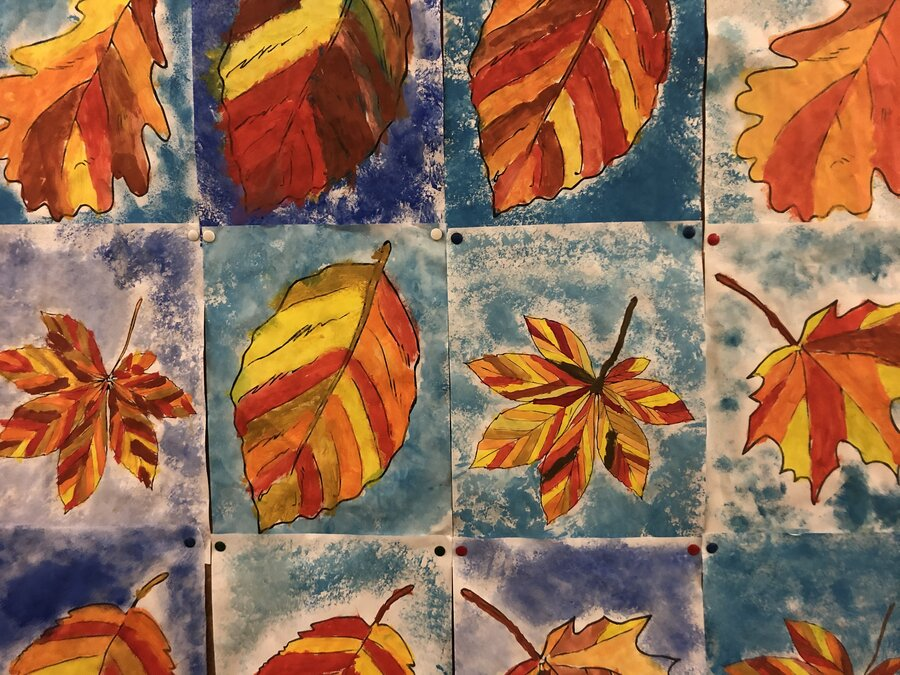 Bunte Herbstblätter - Klasse 1.2