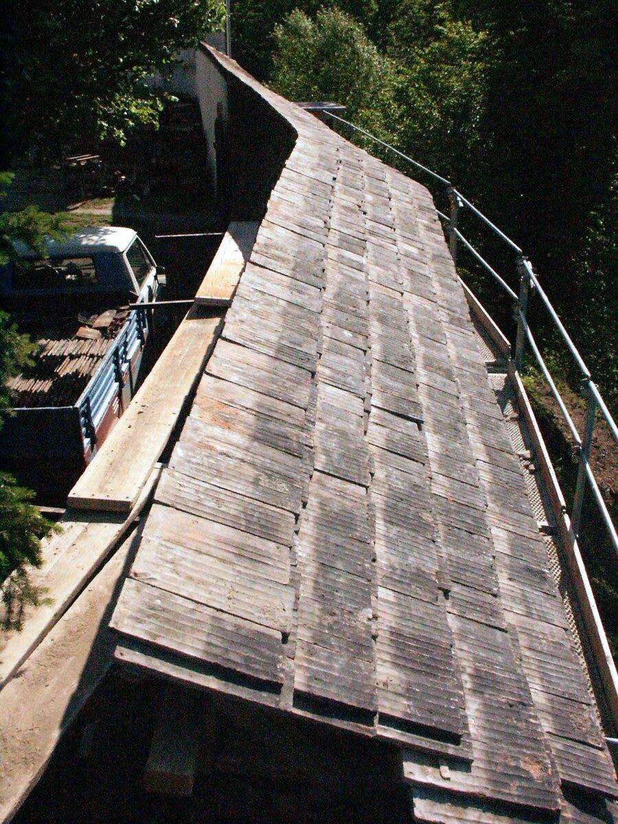 Dachabdeckung der Mauerkrone