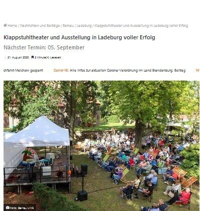 Klappstuhltheater und Ausstellung voller Erfolg (c) Bernau Live