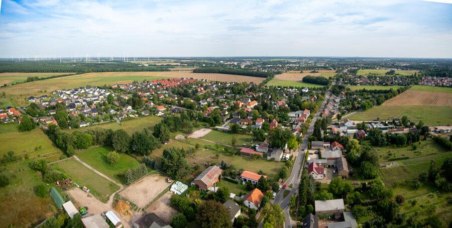 Blick über Ladeburg (ohne Schäferpfühle)