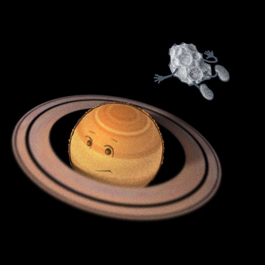 Stups beim Planeten Saturn