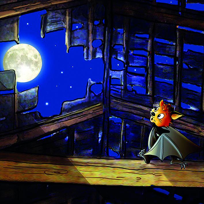 Flappi betrachtet den Mond