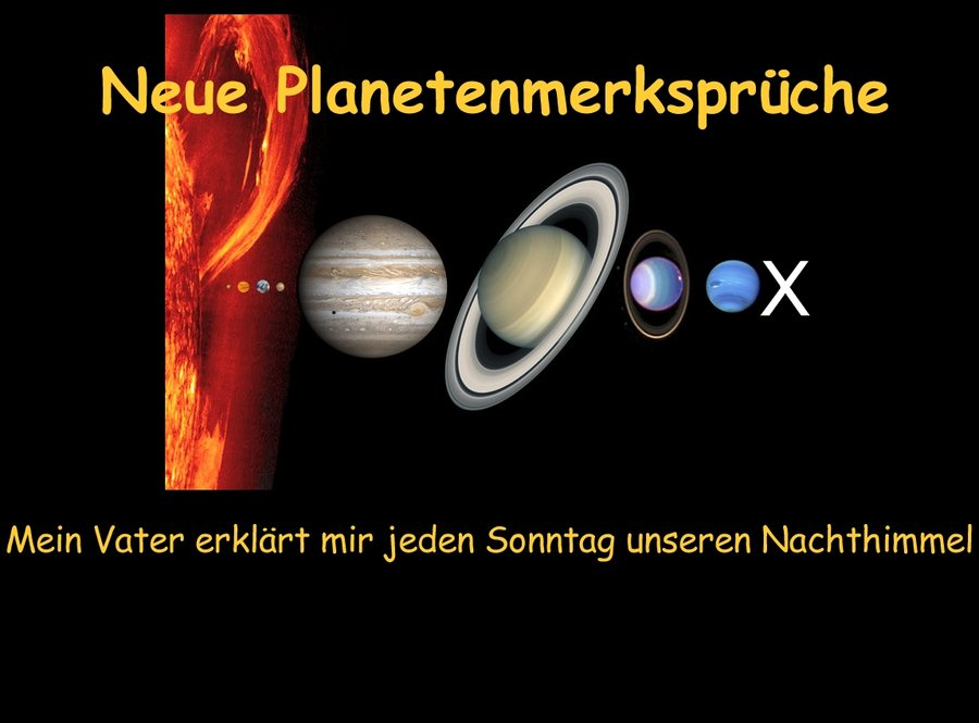 Wie merke ich mir die Planetennamen?