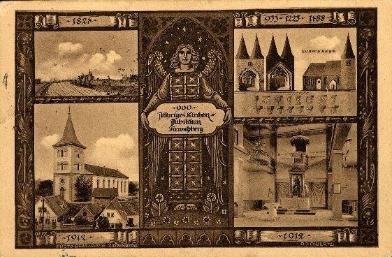 "Bad Dürrenberg, AK am 12.12.1912 gelaufen nach Bad Dürrenberg Empf. Frieda Zimerman ""900-jähriges Kirchen-Jubiläum Keuschberg 1912"