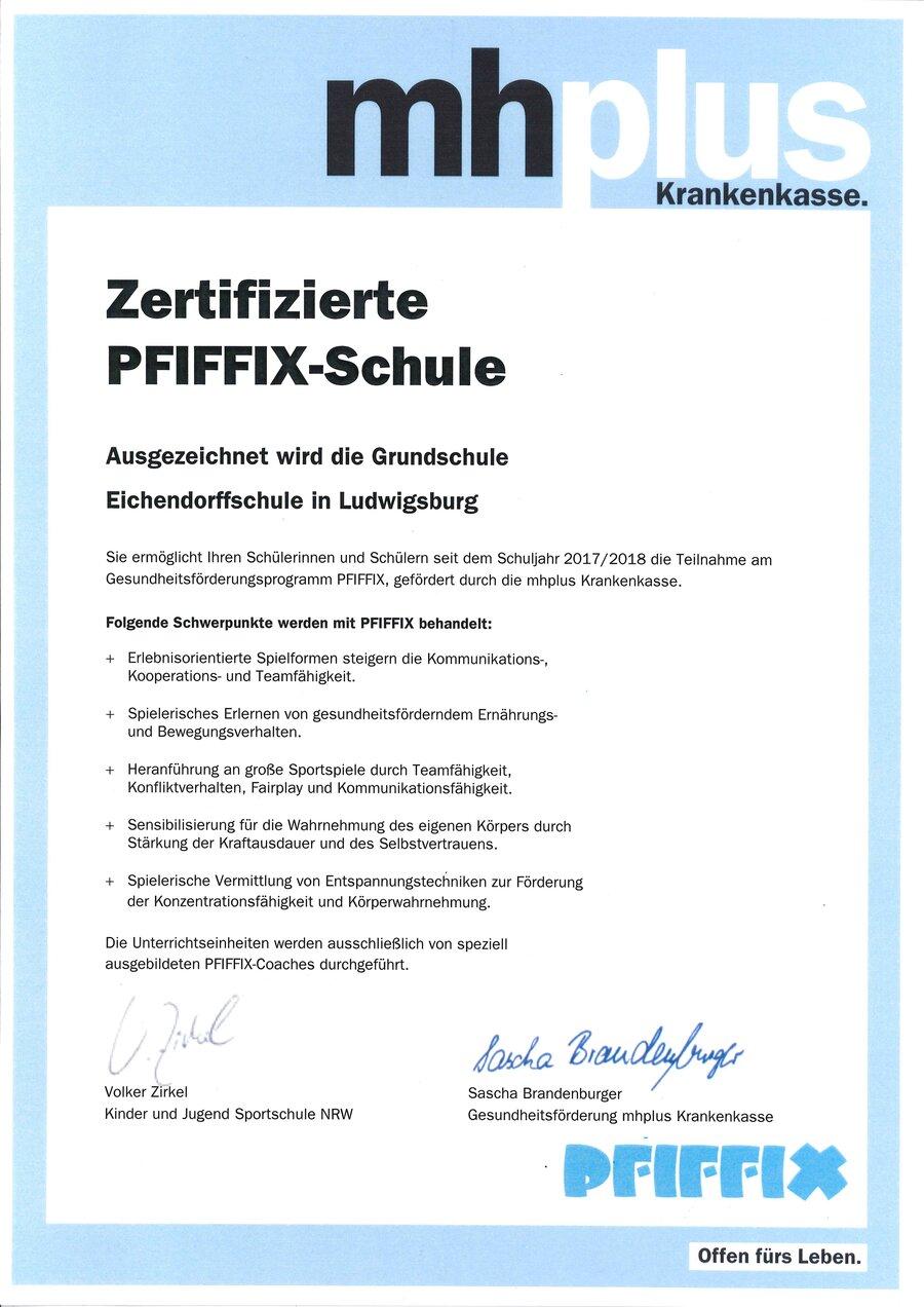 Pfiffix-Zertifikat