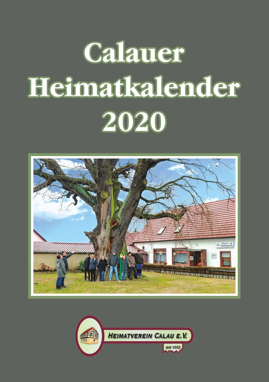 Calauer Heimatkalender 2020 - Deckblatt
