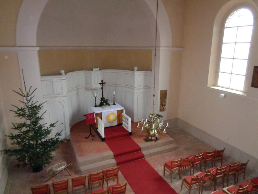 Innenraum Kirche Kemlitz