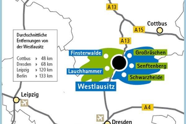 Karte Westlausitz