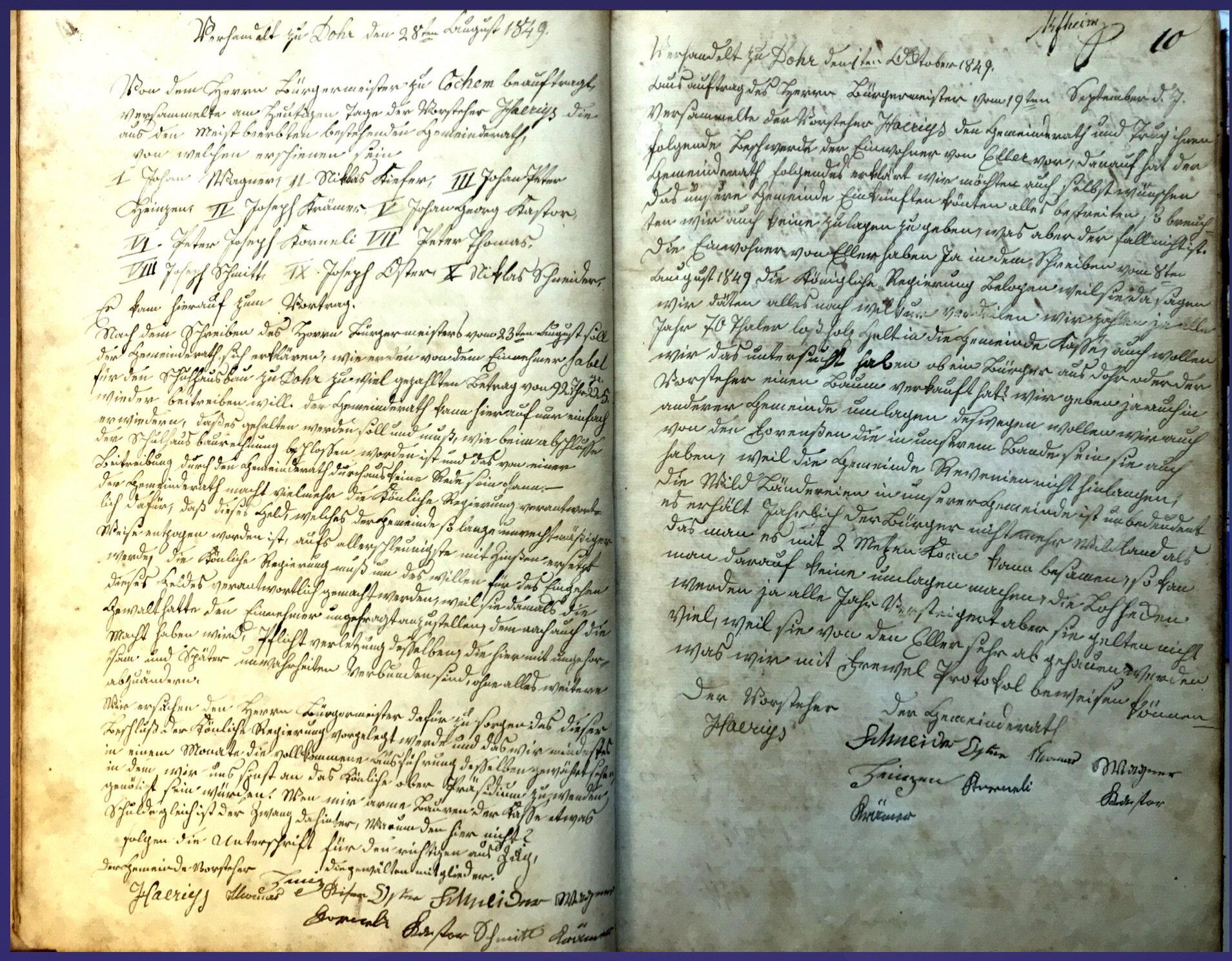 Beschlussbuch 1849